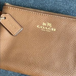 Coach Camel Tan Leather Wrislet